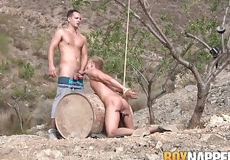 Luke Desmond fucks restrained..