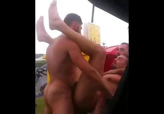 outdoor fuck at festival