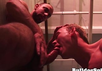 Aroused hunk rough pounded in..