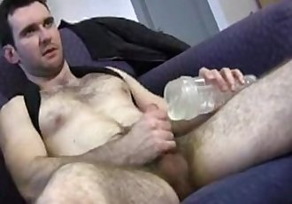 Hairy dude get fucked